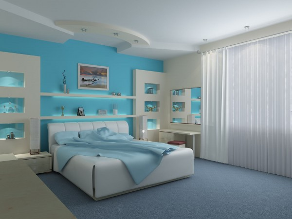 Turquoise-romantique-et-sexy-chambre-idées-design