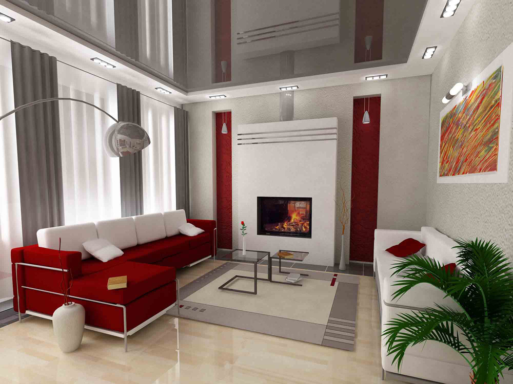 Pros and cons of suspended ceilings for the living room with photo examples