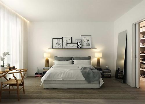 Minimalism Style Bedroom Floor Decoration Furniture Accessories