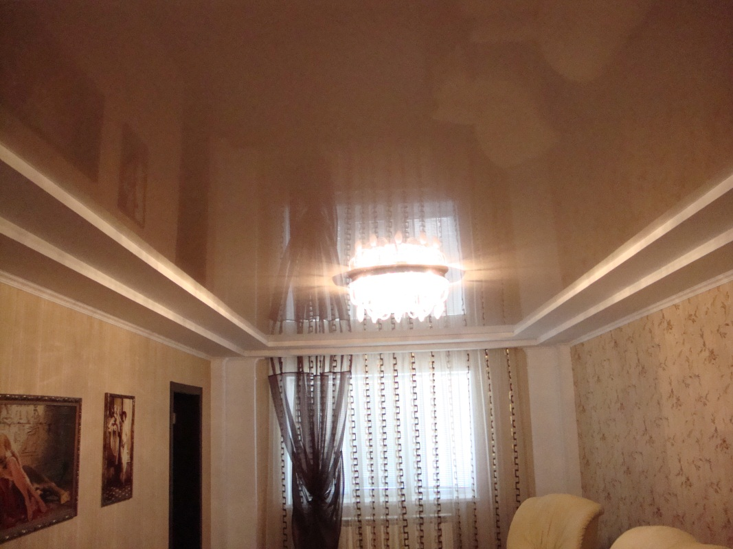 Cons of choosing a stretch ceiling cold dark shade for the living room