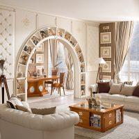 arceau de lumière dans la conception de la photo du couloir