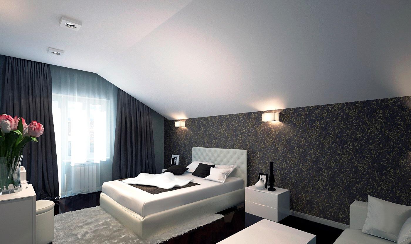 istabas stila tumši viļņotas tapetes