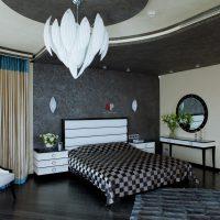Gaišā Art Deco stila guļamistabas foto