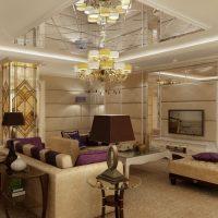 Koša Art Deco dizaina guļamistabas foto