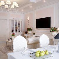 gaismas franču stila virtuves dizaina foto