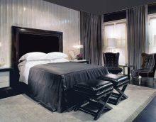 izsmalcināts telpas dizains melnā krāsā