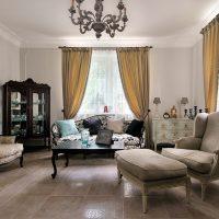 skaists guļamistabas interjers franču stila attēlā