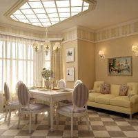 gaišs dekors franču stila koridora attēls