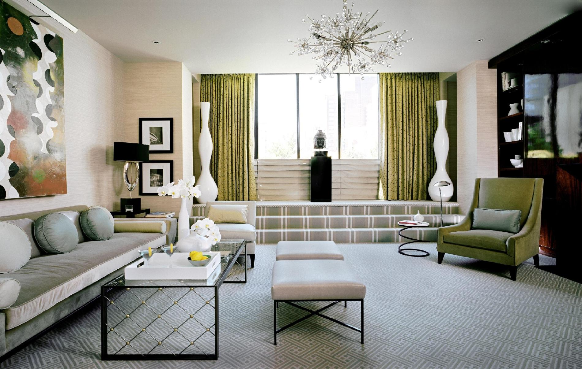 šviesaus dizaino namai art deco stiliumi