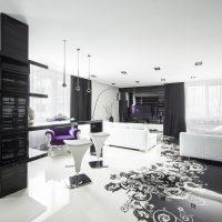 gražus buto interjeras dekoro stiliaus dailės paveiksle