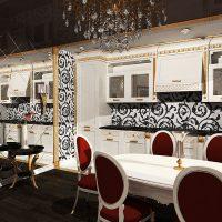 prašmatnus kambario dizainas dekoratyvinėje nuotraukoje