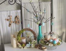 skaists pavasara dekors virtuves attēla noformējumā