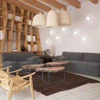 gaismas eko virtuves dizaina foto