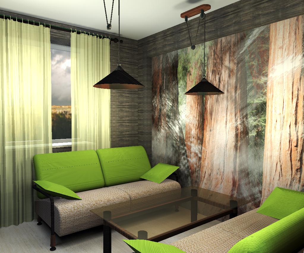 skaista eko stila istaba