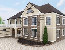 spilgts mājas dizains arhitektūras stila attēlā