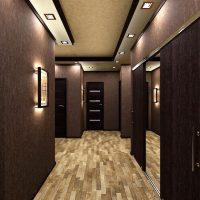 viļņotas tumšas tapetes virtuves foto stilā