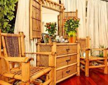 parkets ar bambusu istabas foto noformējumā