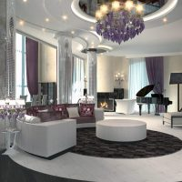šviesus kambario dizainas art deco nuotraukoje