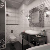 prašmatnus namų interjeras dekoratyvinėje nuotraukoje