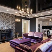 gražus interjero kambarys art deco stiliaus nuotraukoje