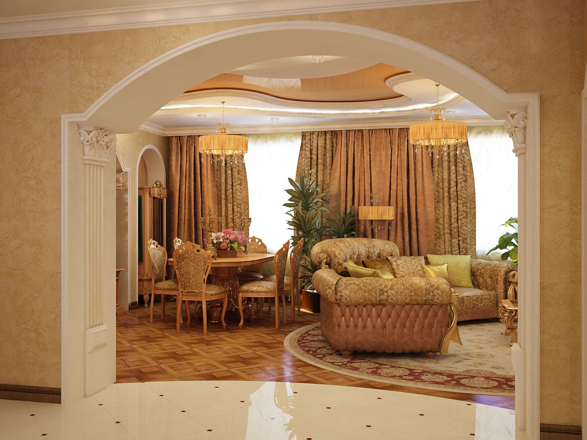 gaiša arka koridora dizainā