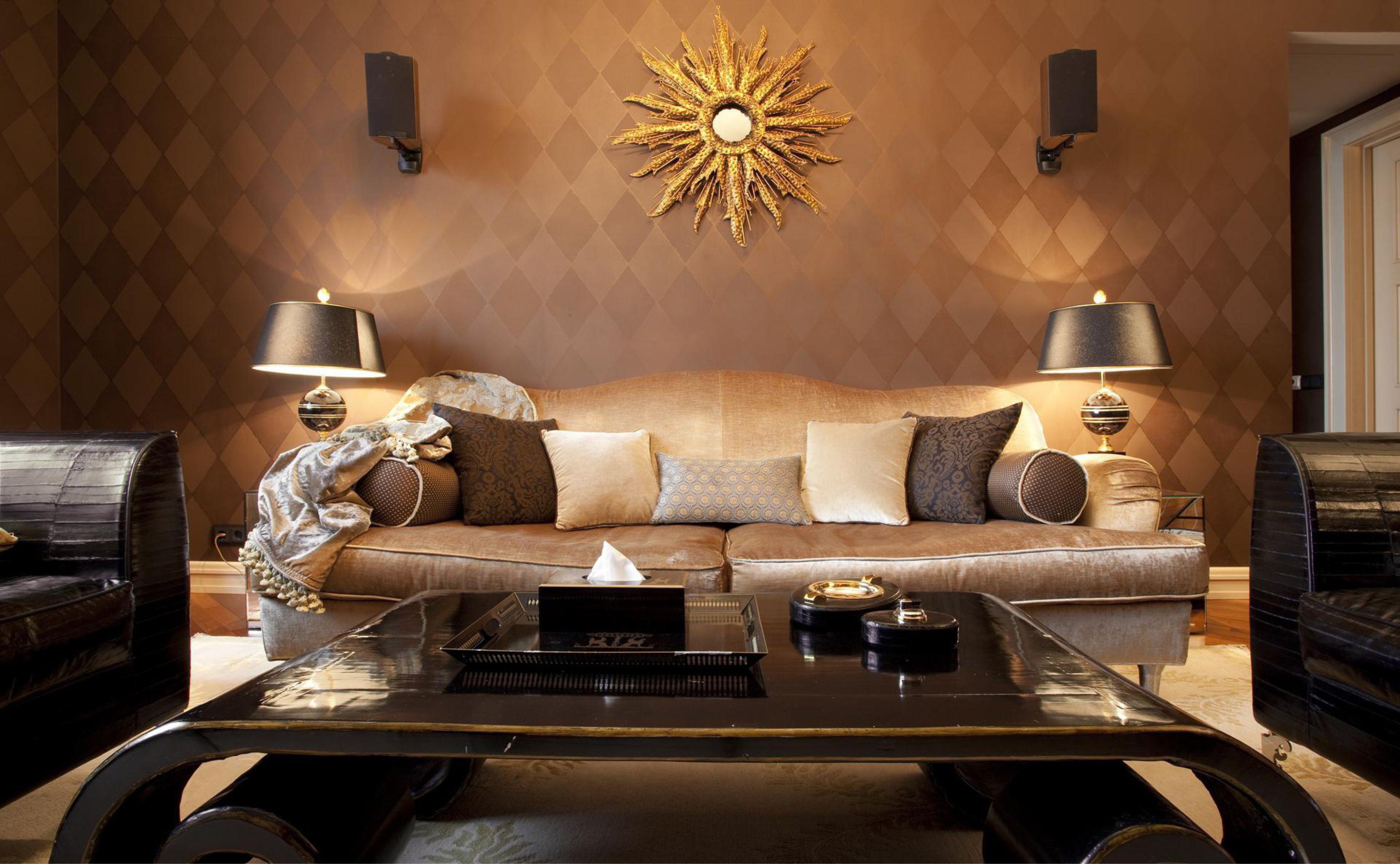 spilgts art deco guļamistabas stils