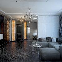 spilgts art deco interjera dzīvokļa attēls