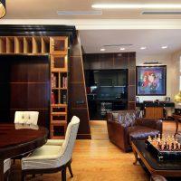 spilgta art deco stila dzīvokļa foto