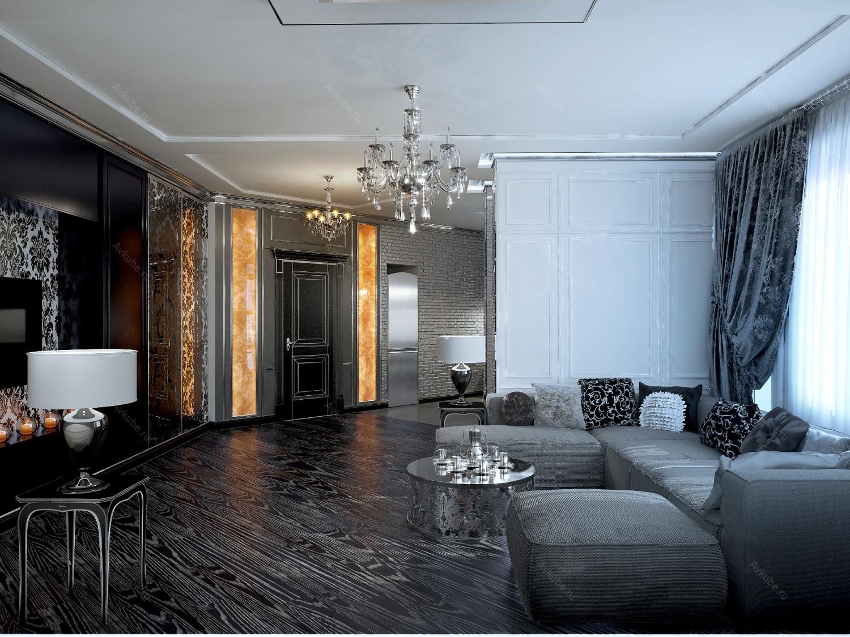 gaišais art deco stila koridors