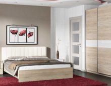koši balta ozola stila guļamistabas attēls