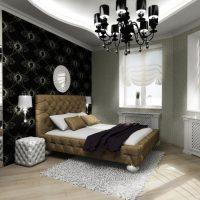 šviesus interjero kambarys art deco stiliaus nuotraukoje