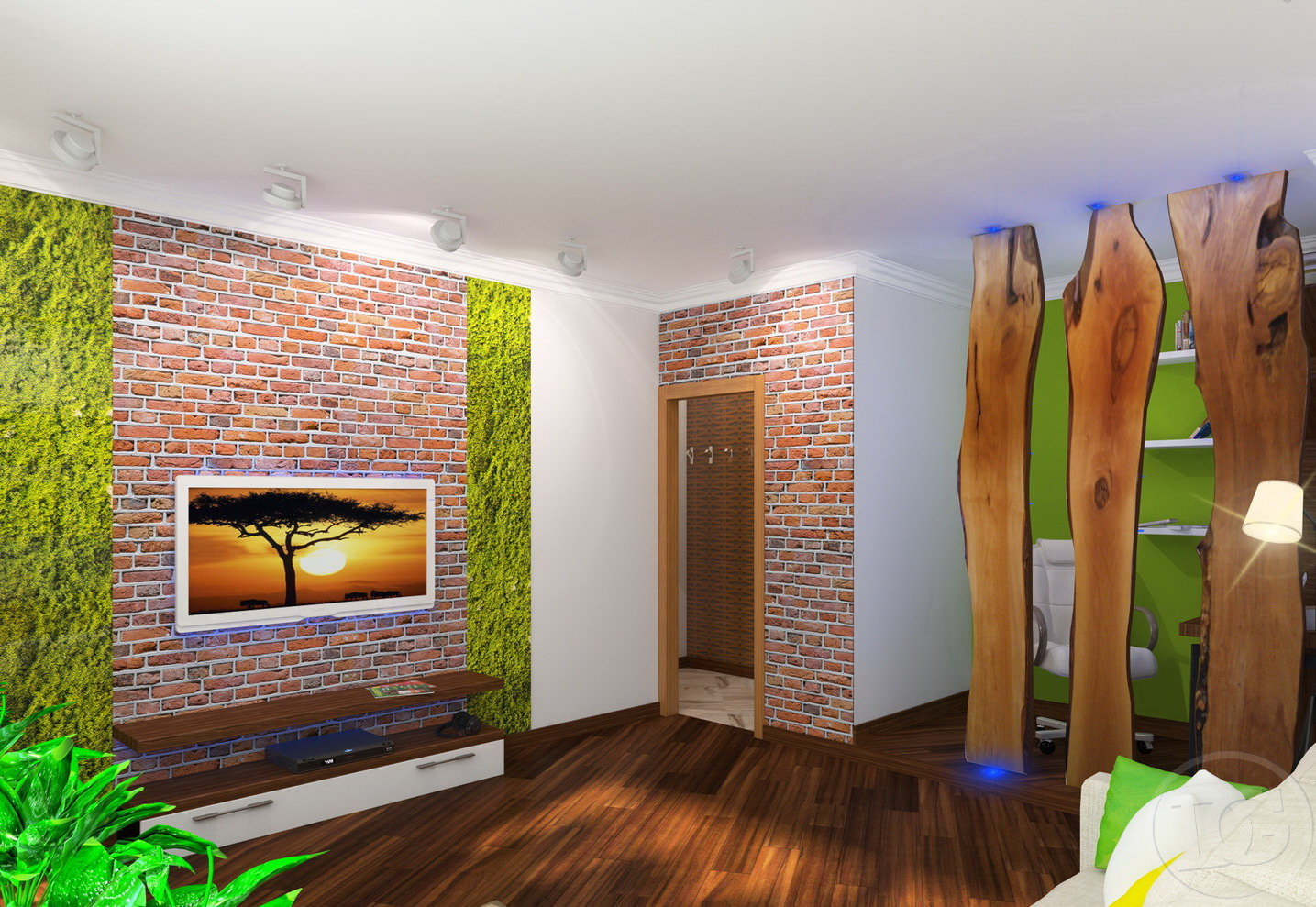 Bagātīgs eko stila koridors