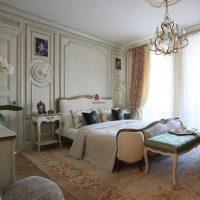 skaists dzīvokļa dizains franču stila fotoattēlā