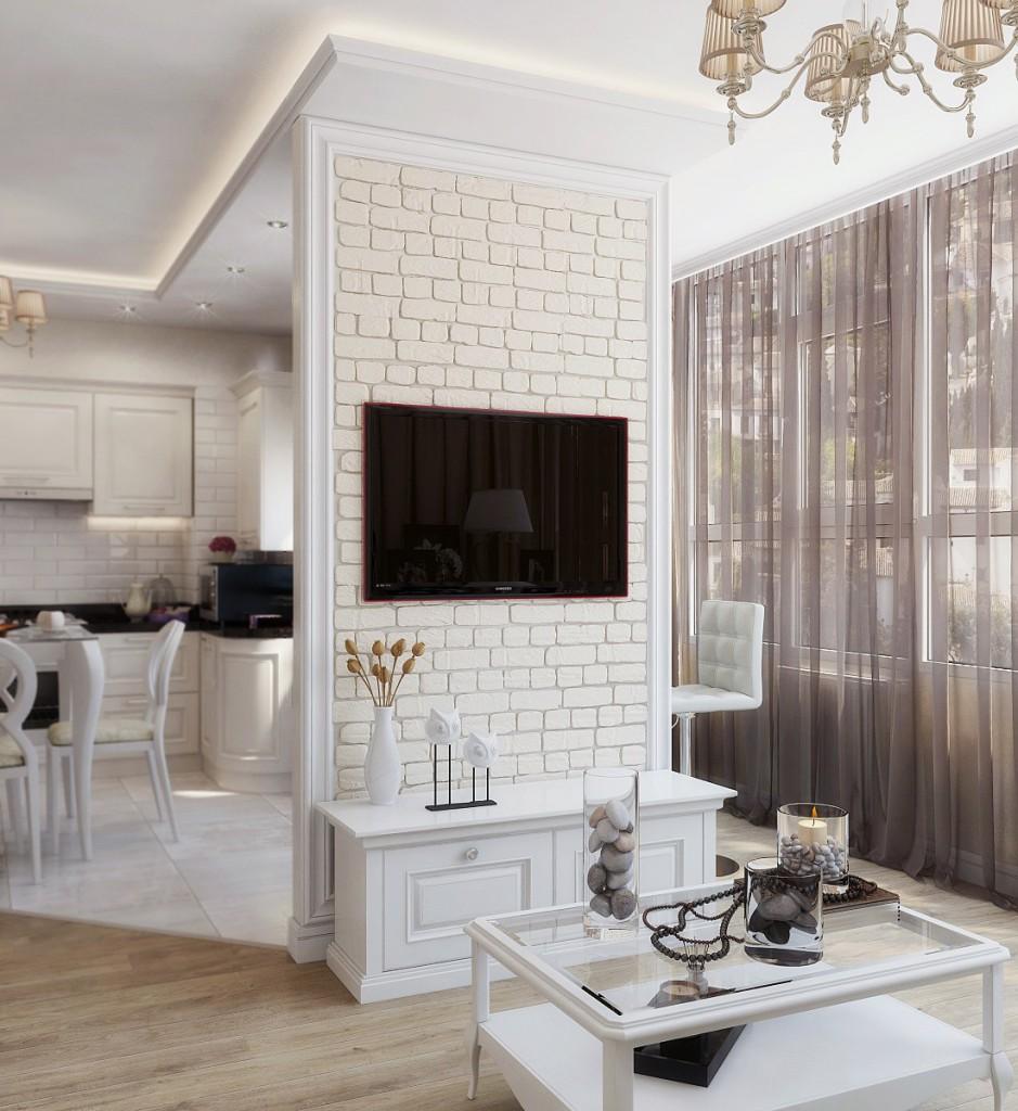 gaišs franču stila guļamistabas dekors