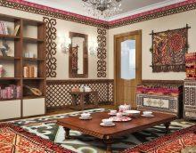 beau couloir intérieur en photo de style ethnique