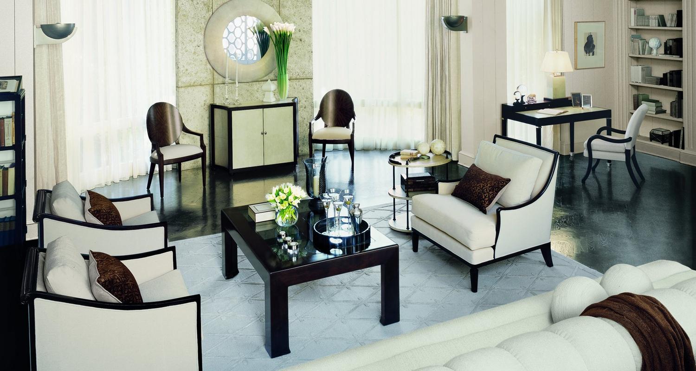 šviesus kambario interjeras art deco stiliumi