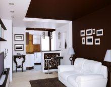 tumša koridora dizains eklektisma stila attēlā
