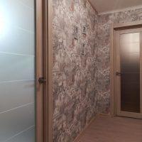 tumšā stila virtuves durvju foto