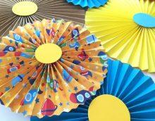 papīra ventilators guļamistabas dizaina fotoattēlā