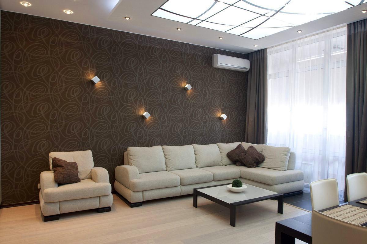 svītrainas tumšas guļamistabas stila tapetes