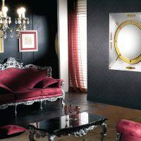 skaistas tumšas tapetes virtuves attēla interjerā