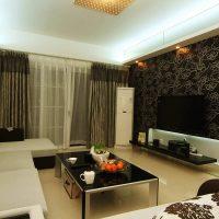 skaistas tumšas tapetes guļamistabas foto noformējumā