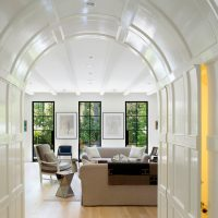 arcade lumineuse dans la conception de la photo de la chambre