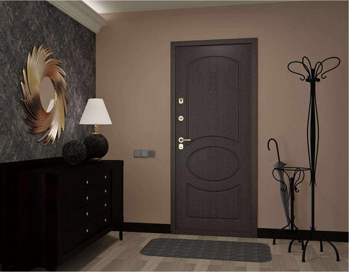 tumšas durvis virtuves dizainā