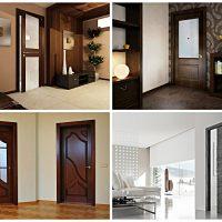 gaiša koridora stila durvju attēls