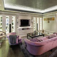 gaiša art deco interjera dzīvokļa attēls