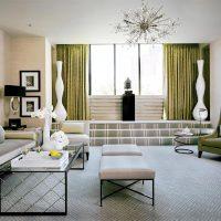 spilgts art deco guļamistabas interjera attēls