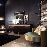 gaismas dekoratīvā stila viesistabas foto