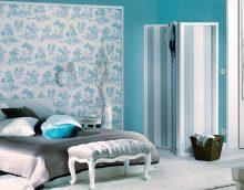 šiks tiffany krāsa guļamistabas interjerā
