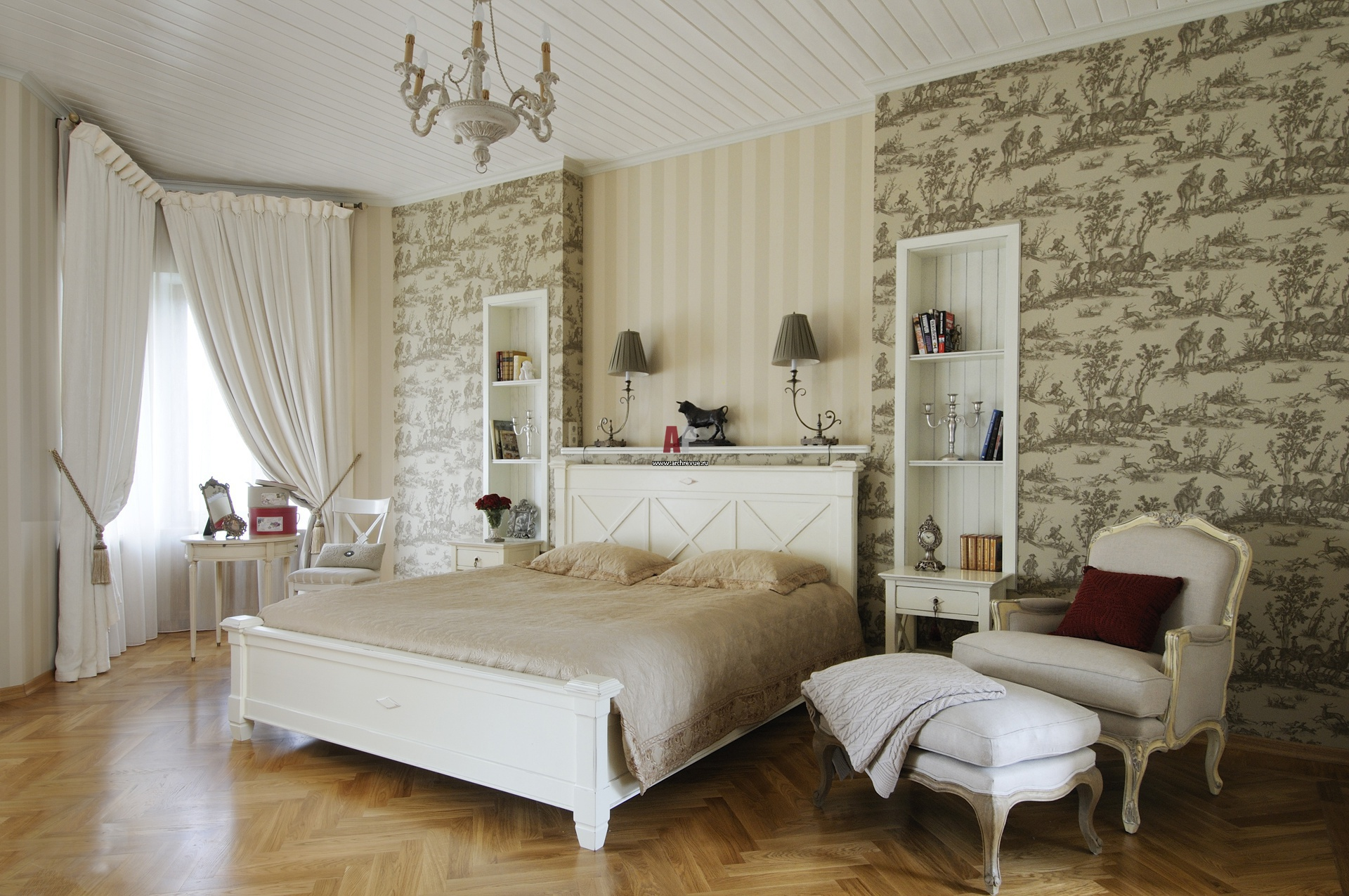 skaists franču stila dzīvokļa dizains